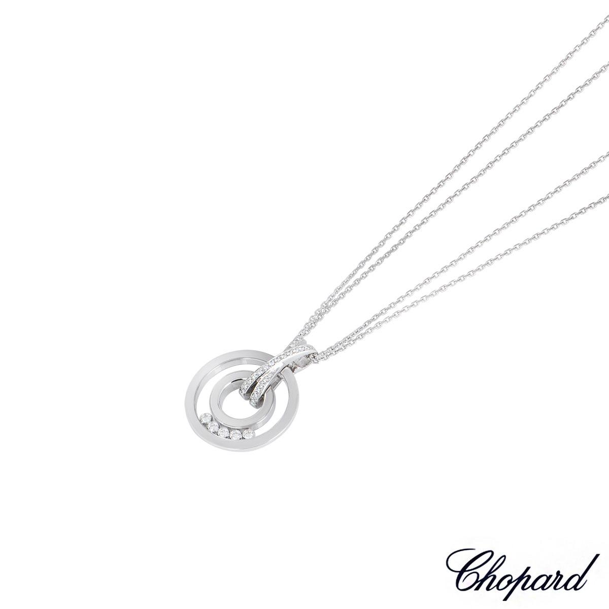 Chopard White Gold Happy Diamonds Pendant